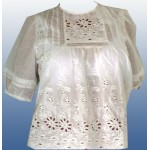Блуза белая закрытая
