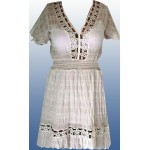 Платье белое 100% х/б